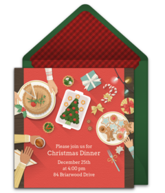 Punchbowl  Free Templates Christmas Invitations