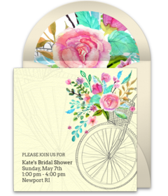 bridal shower bicycle