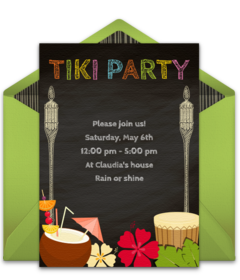Free Summer Party Online Invitations