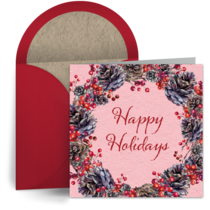 Festive Holly Berries card image
