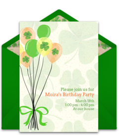 Free St Patricks Day Party Online Invitations