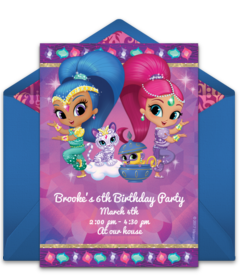 Free Shimmer And Shine Online Invitations