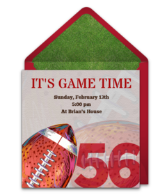 graphic about Super Bowl Party Invitations Free Printable named Absolutely free Tremendous Bowl® Social gathering On-line Invites Punchbowl
