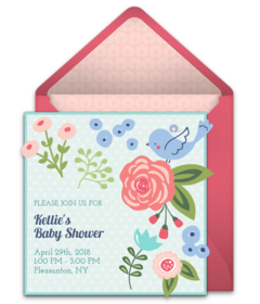 Free baby shower online invitations punchbowl fresh flowers filmwisefo