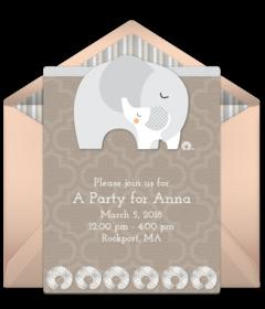 Free baby shower online invitations punchbowl elephant snuggle filmwisefo
