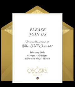 oscars party invitations