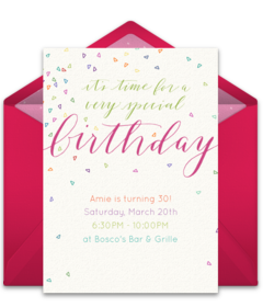 Free girl birthday party online invitations punchbowl filmwisefo