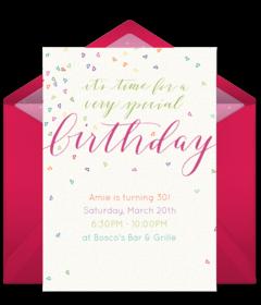 Free teen birthday online invitations punchbowl filmwisefo