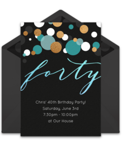 Free adult birthday party online invitations punchbowl forty blue filmwisefo