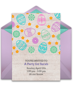 easter birthday invitations