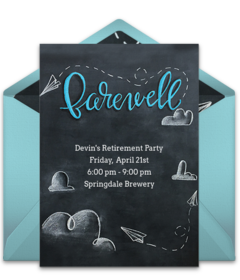 Free retirement party online invitations punchbowl retirement stopboris Image collections