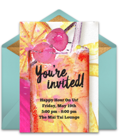 Free Food Drink Online Invitations Punchbowl
