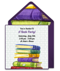 Free Book Club Online Invitations Punchbowl