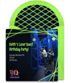 Free Laser Quest Online Invitations