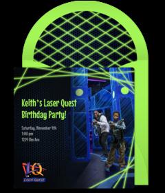 cb73cb930972 Free Laser Quest Online Invitations   Punchbowl