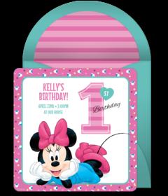 Free 1st Birthday Online Invitations | Punchbowl