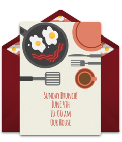 free brunch and lunch online invitations punchbowl