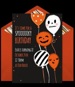 Free Printable Halloween Birthday Party Invitations.Free Halloween Online Invitations Punchbowl