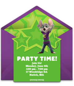 Chuck E Cheeses Online Invitations