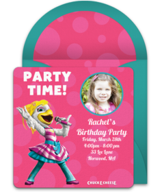 Chuck E Cheese S Online Invitations Punchbowl