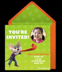 Chuck E Cheeses Online Invitations