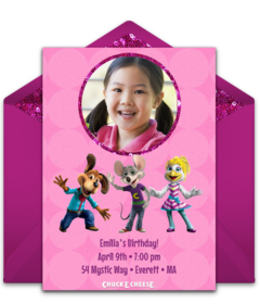Chuck e cheeses online invitations punchbowl chuck e cheeses girl birthday filmwisefo Images