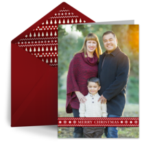 Merry Christmas Sweater Banner card image
