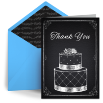 Chalkboard Wedding Cake card image