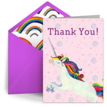 Rainbow Unicorn card image
