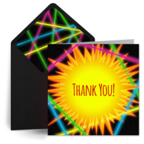 Laser Tag Thank You card image