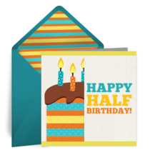 Half Birthday card image