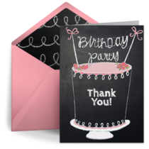 Chalkboard Birthday Cake card image