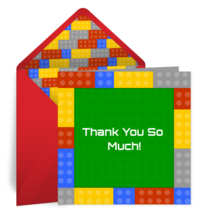 Blocks Thank You card image