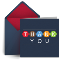 Birthday Thank You card image