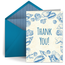 Seashells Thank You card image
