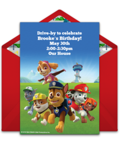 photograph about Printable Paw Patrol Invitations named No cost PAW Patrol On the net Invites Punchbowl