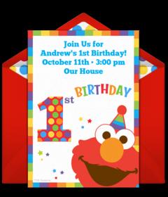 Peachy Free 1St Birthday Online Invitations Punchbowl Funny Birthday Cards Online Fluifree Goldxyz