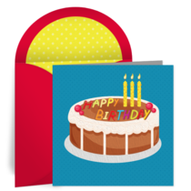 Birthday for Him Cake card image