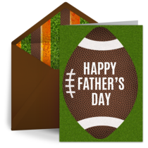 Father's Day Football card image