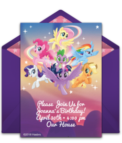 Free my little pony online invitations punchbowl my little pony group free filmwisefo