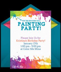 67f0c537063c Color Me Mine Online Invitations
