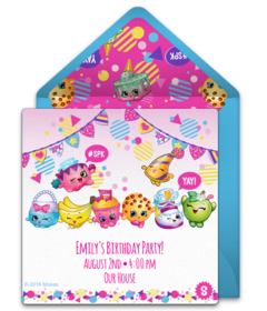 Free Shopkins Online Invitations