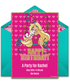 Free Barbie Online Invitations