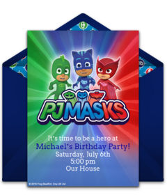 Free PJ Masks Online Invitations
