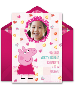 Free Peppa Pig Online Invitations Punchbowl