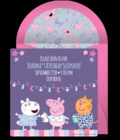 Free Peppa Pig Online Invitations Punchbowl
