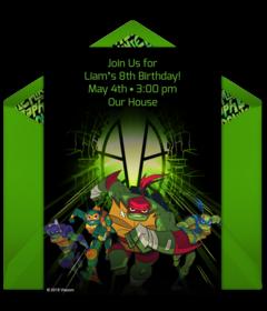 Teenage Mutant Ninja Turtles Online Invitations