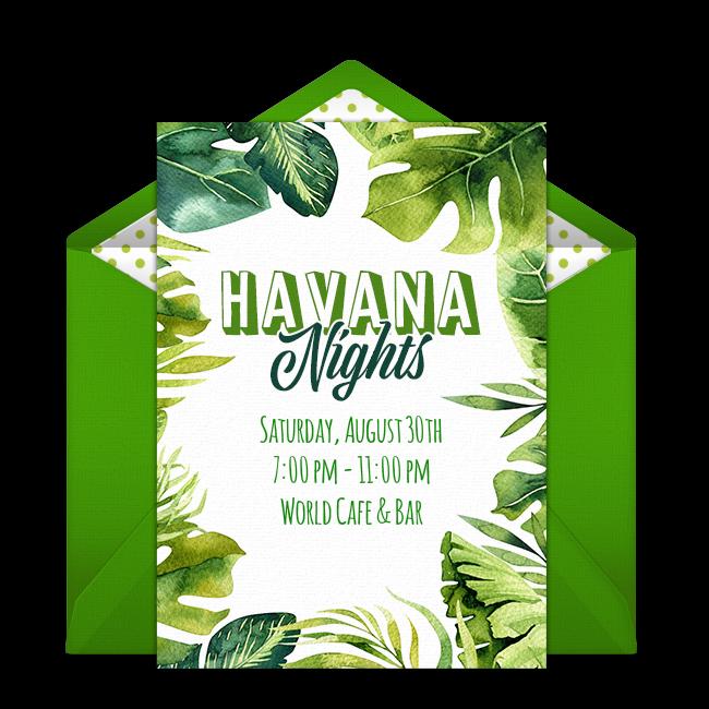 Free Havana Nights Online Invitation