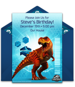 Free Jurassic World Online Invitations