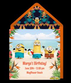 Free Despicable Me Online Invitations Minion Invitations